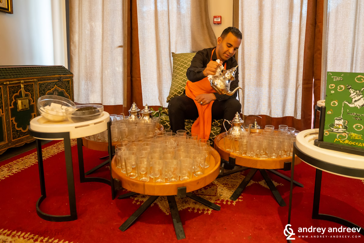 The man who took care of the tea durin breakfast at Movenpick Hotel Marrakech