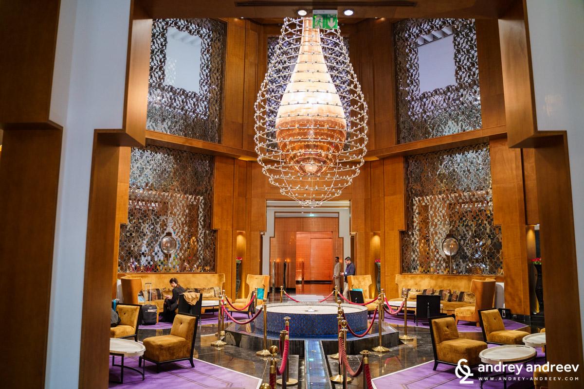 Част от фоайето на хотела - Movenpick Marrakech