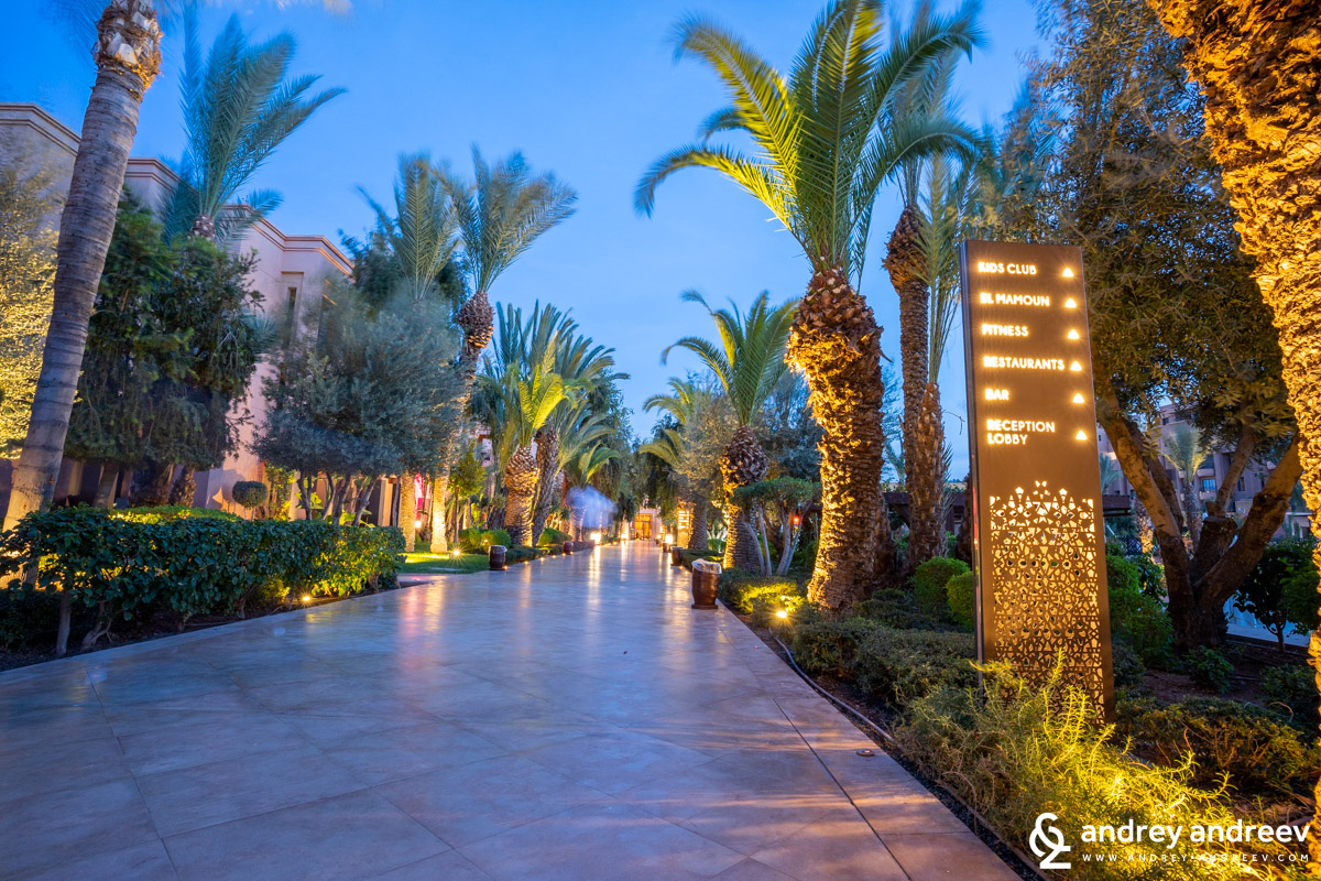 The yard of Movenpick Marrakech