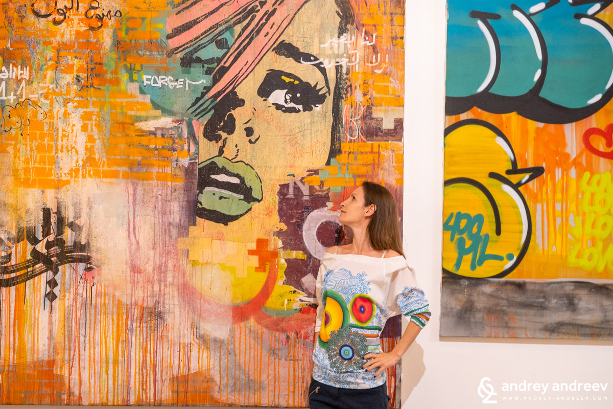 During our visit at Movenpick Marrakech there was an exhibition of modern street art