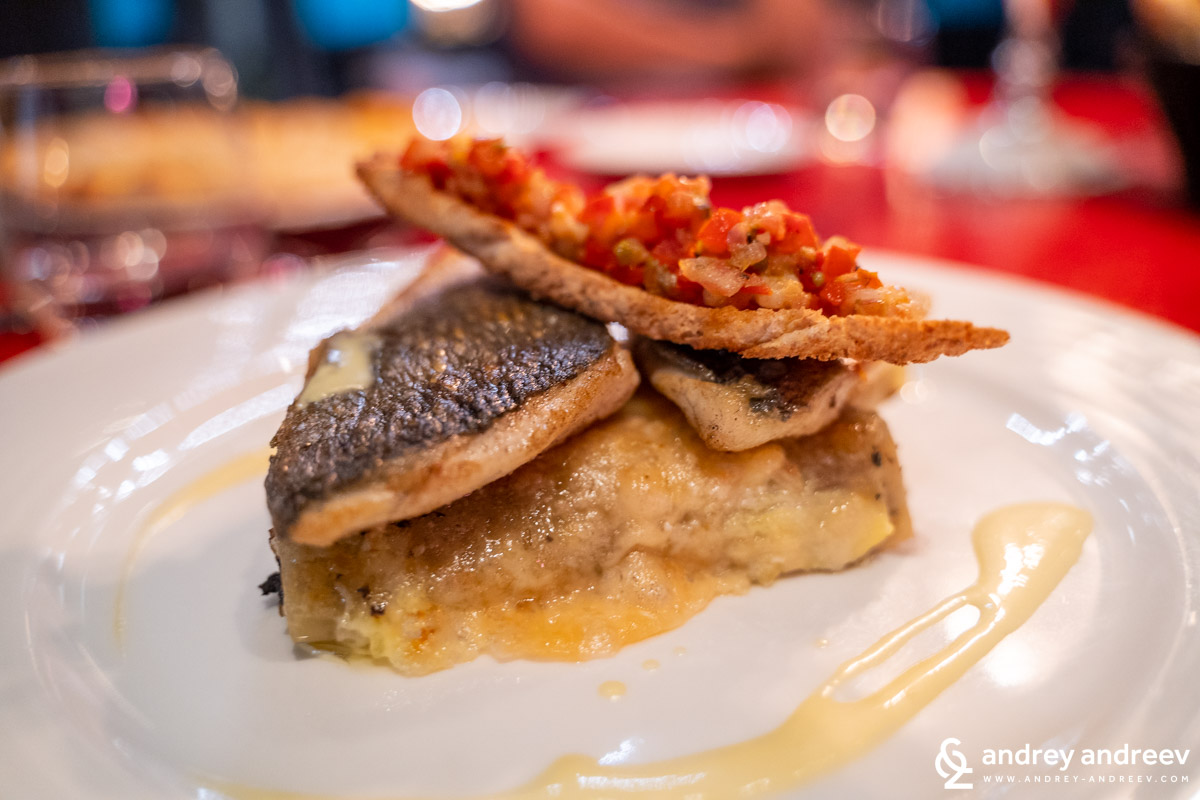 The fish meal at Urban Brasserie