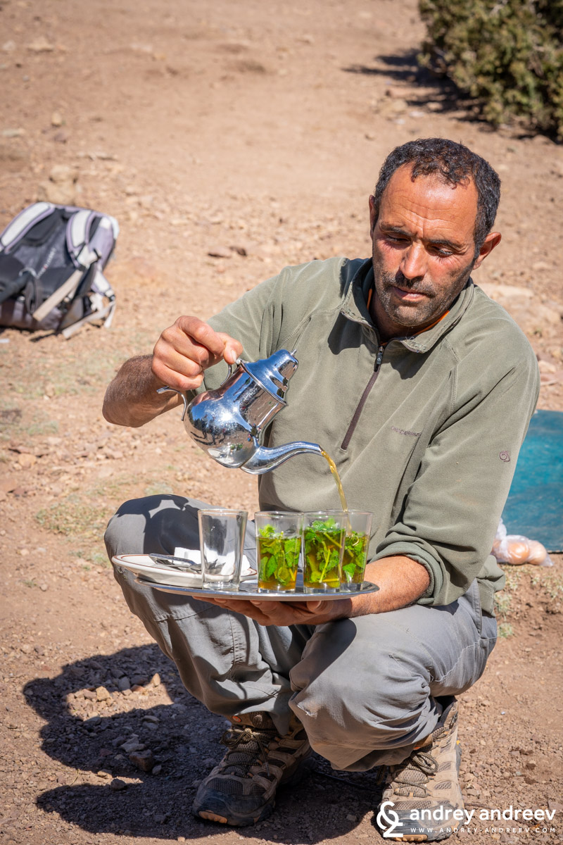 Mehmed serves delicious tea to our group