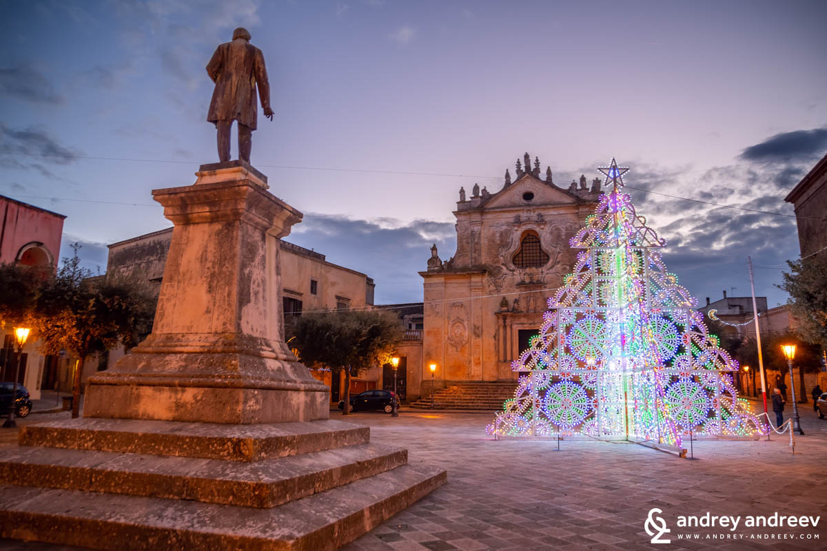 Christmas decorations in Tricase, 2018