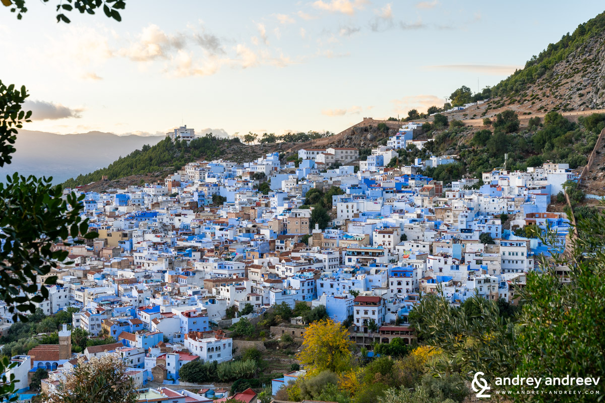 The view towards Chefchaouen from the Spanish mosque