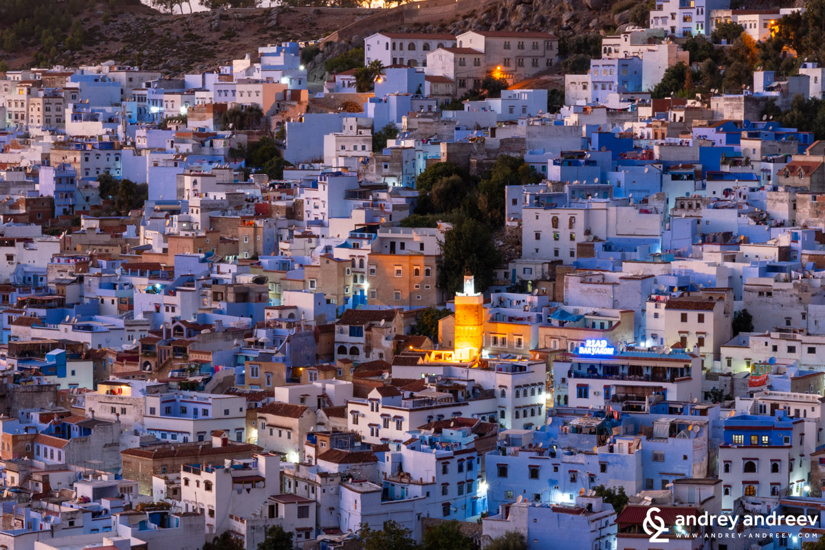Night in Chefchaouen Morocco