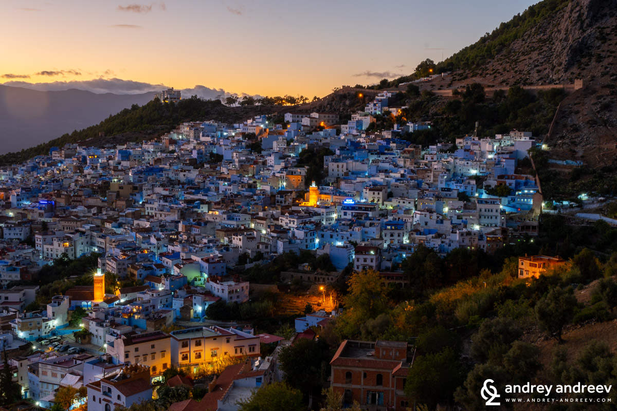 The last sunrays over Chefchaouen