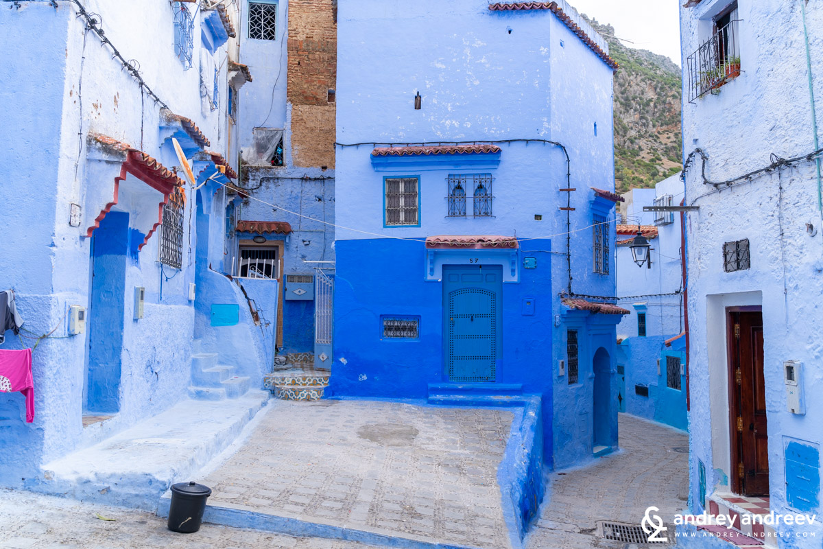 Another cozy corner in Chefchaouen the blue city Morocco
