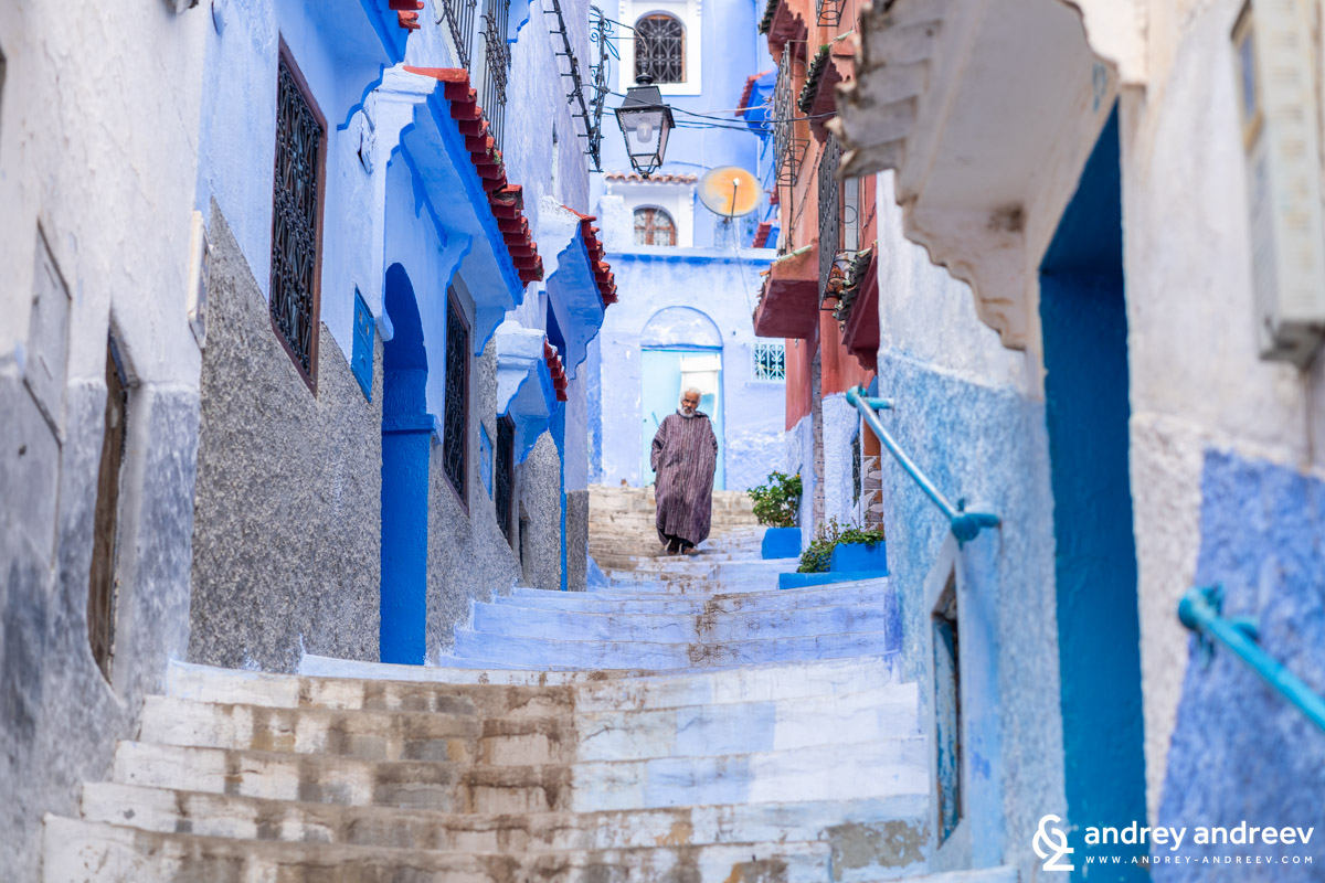 Local Moroccans on the streets of Chefchaouen