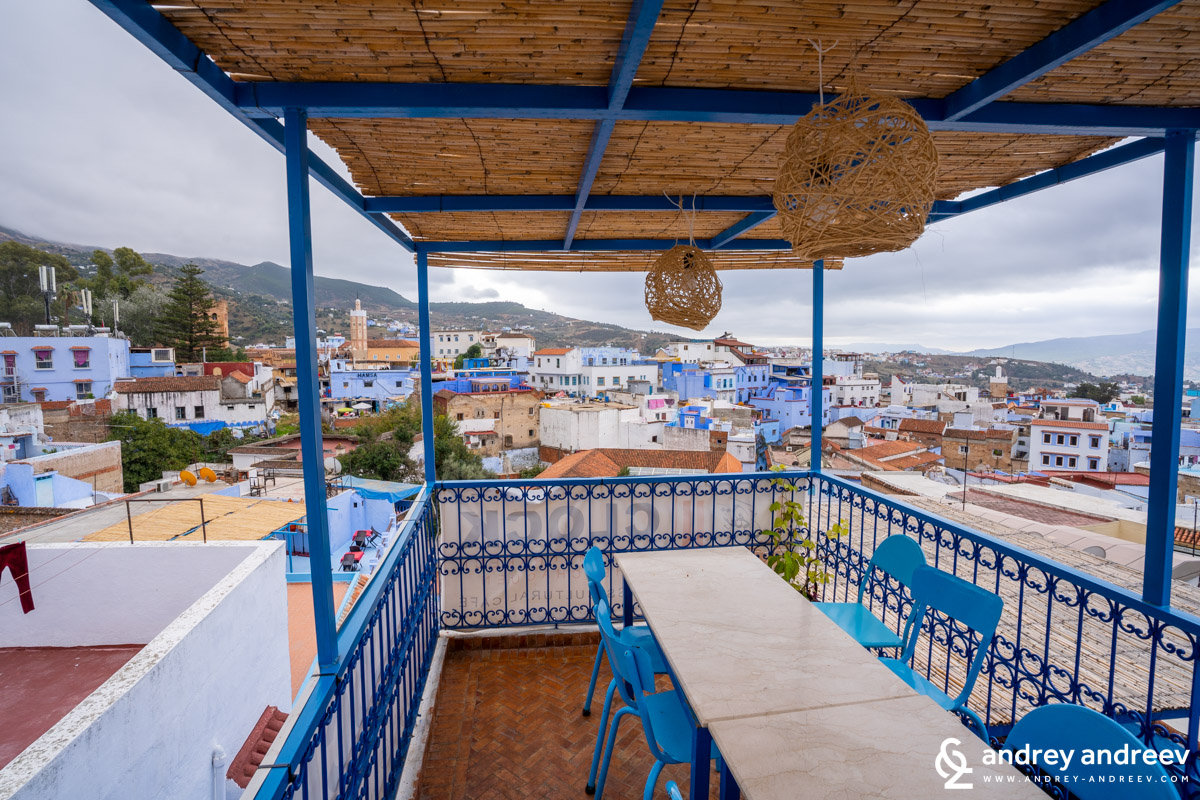 There are many restaurants in Chefchaouen, many of them offering nice views