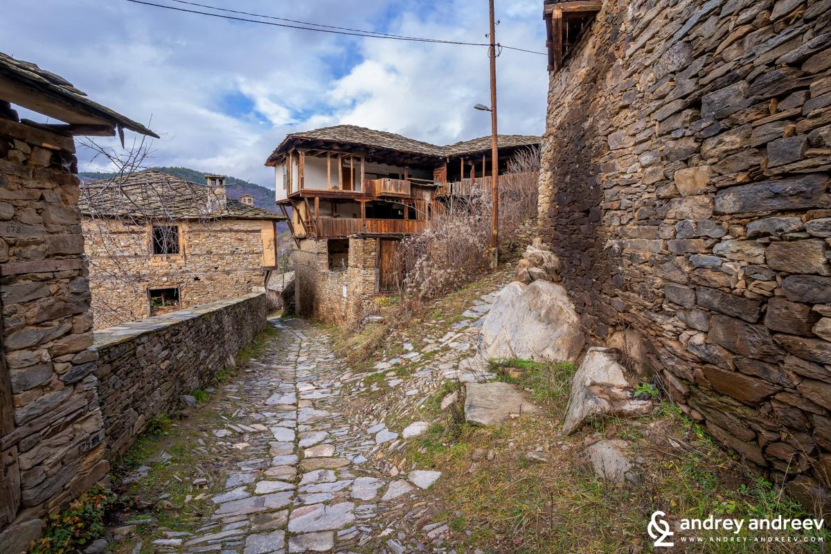 The old houses of Kovachevitsa village, Bulgaria