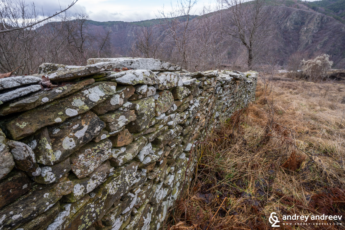 An old stone fence