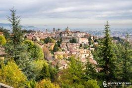 Upper town Bergamo Italy