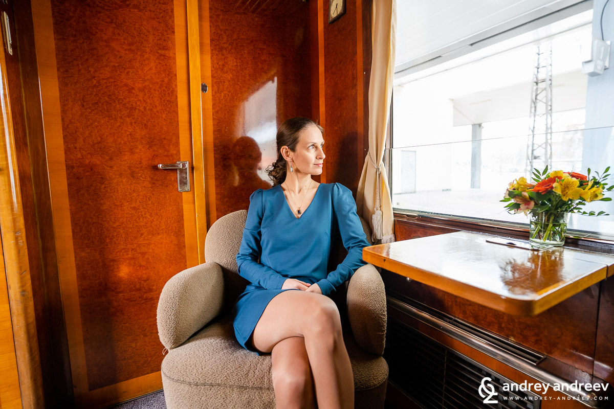 Maria travelling in the royal lounge