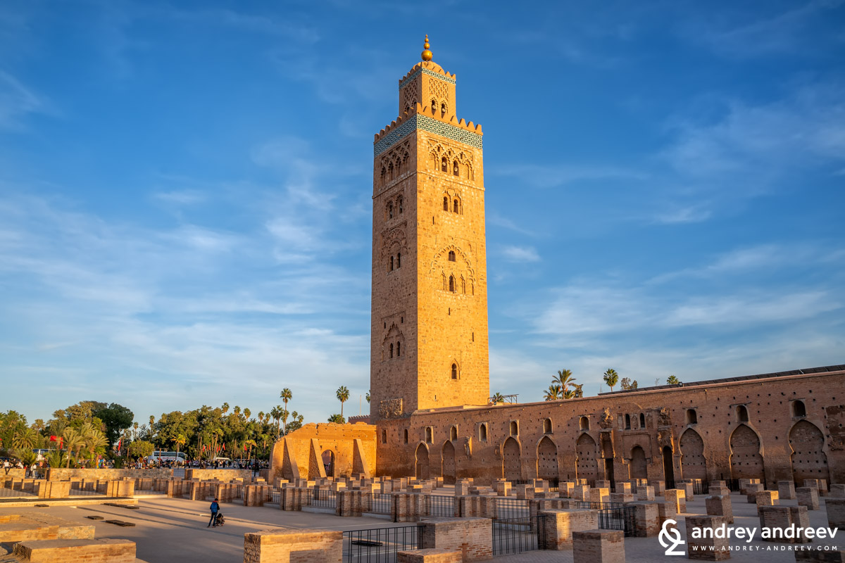 The Koutoubia mosque and the remains of the first mosque