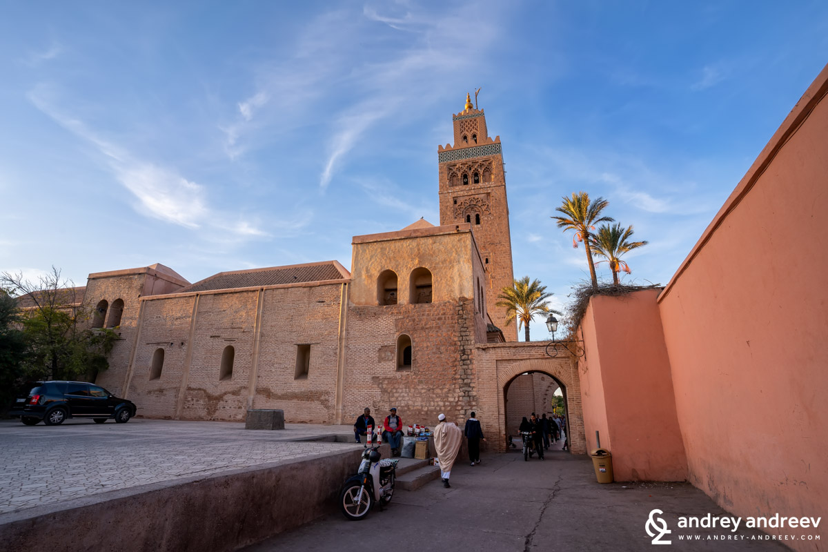 Koutoubia mosque in Marrakech Morocco