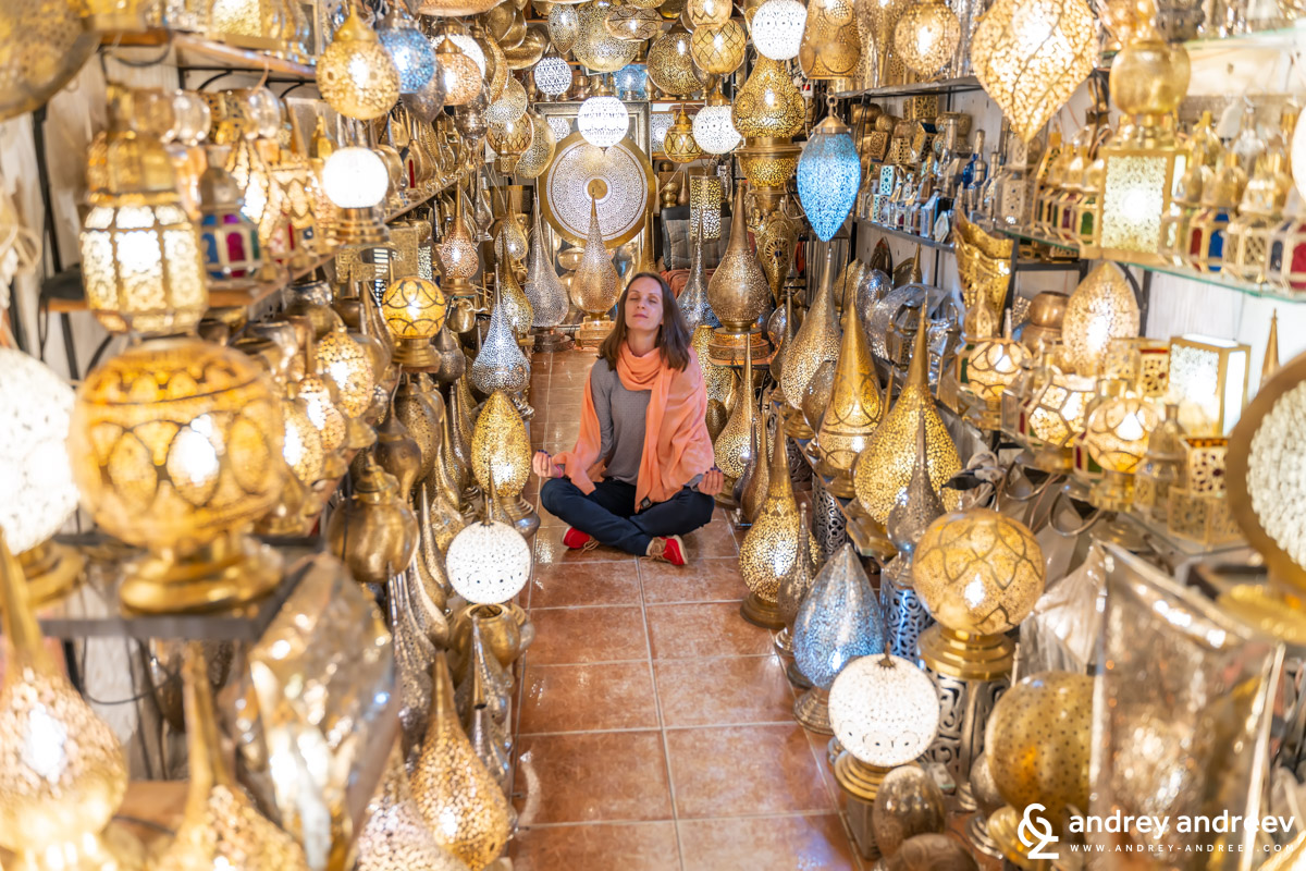 You really need some meditation before immersing in Marrakech