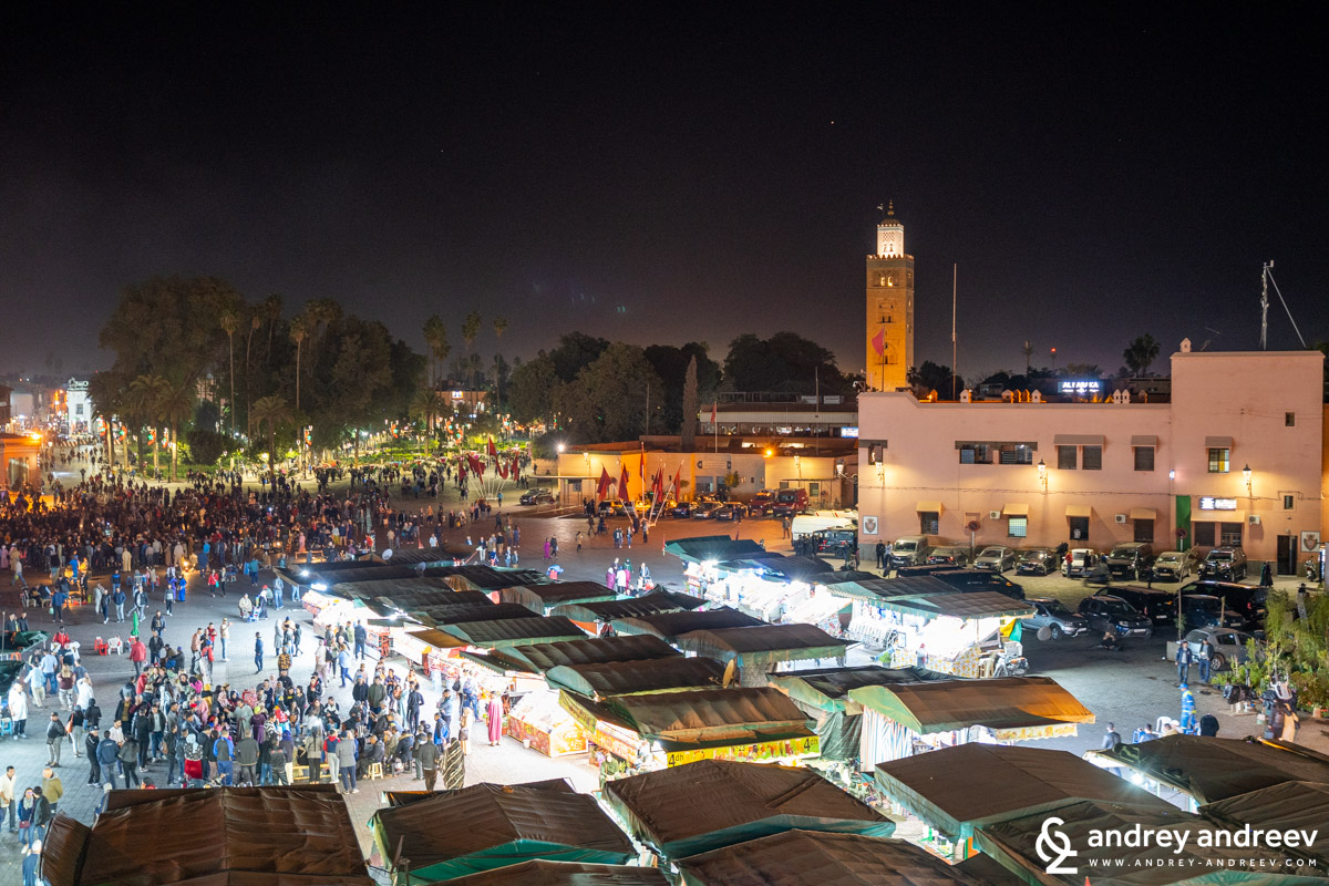The square in Marrakech, seen from above