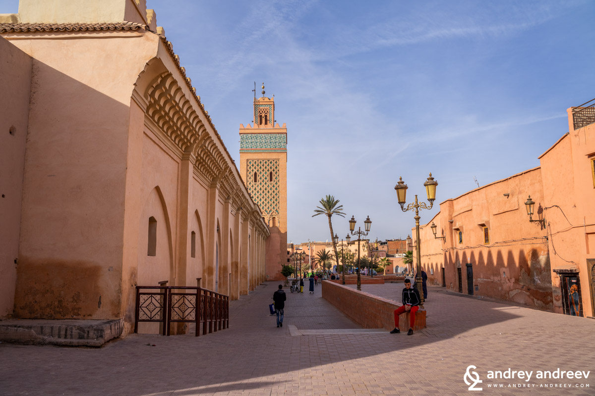 Mosque of Moulay al-Yazid is next to the Saadian tombs