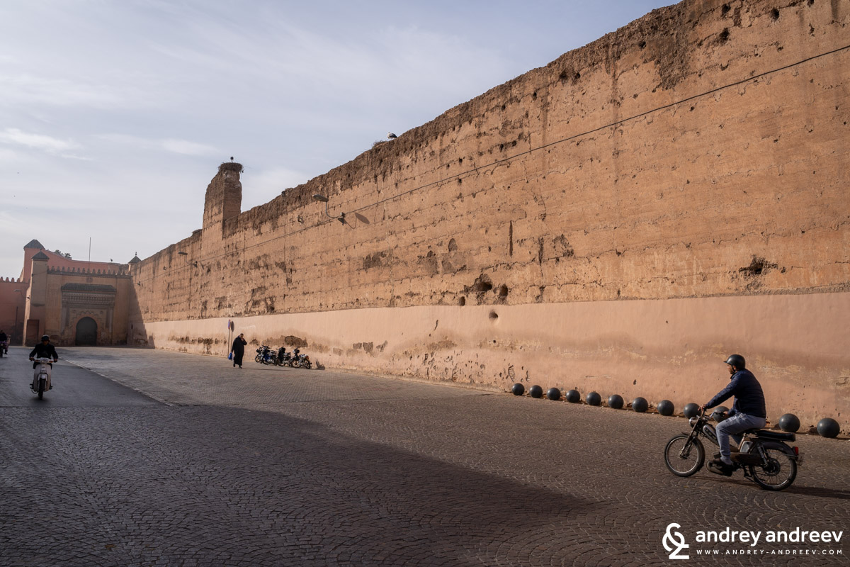 This should be the walls of El Badi palace in Marrakech