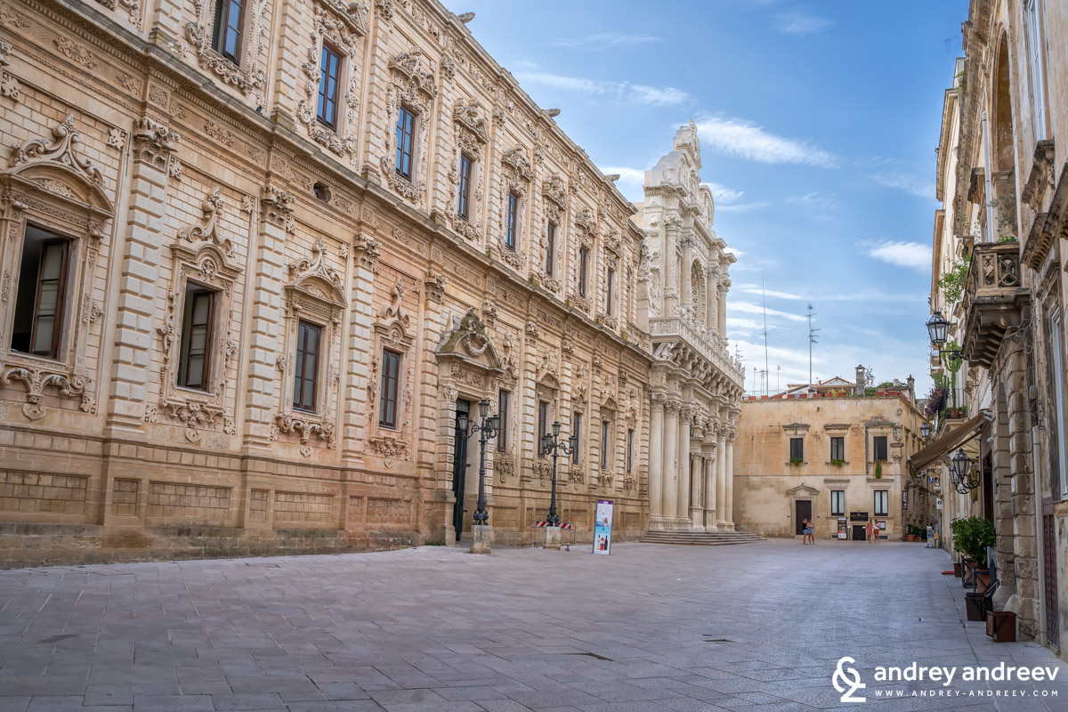The Basilica di Santa Croce in Lecce, south Italy