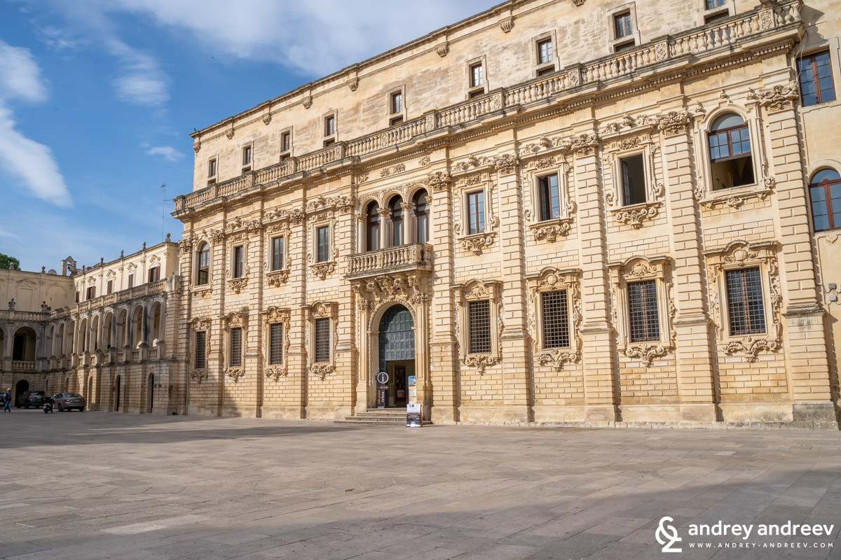 The Seminary in Lecce and a part of the Bishop's palace