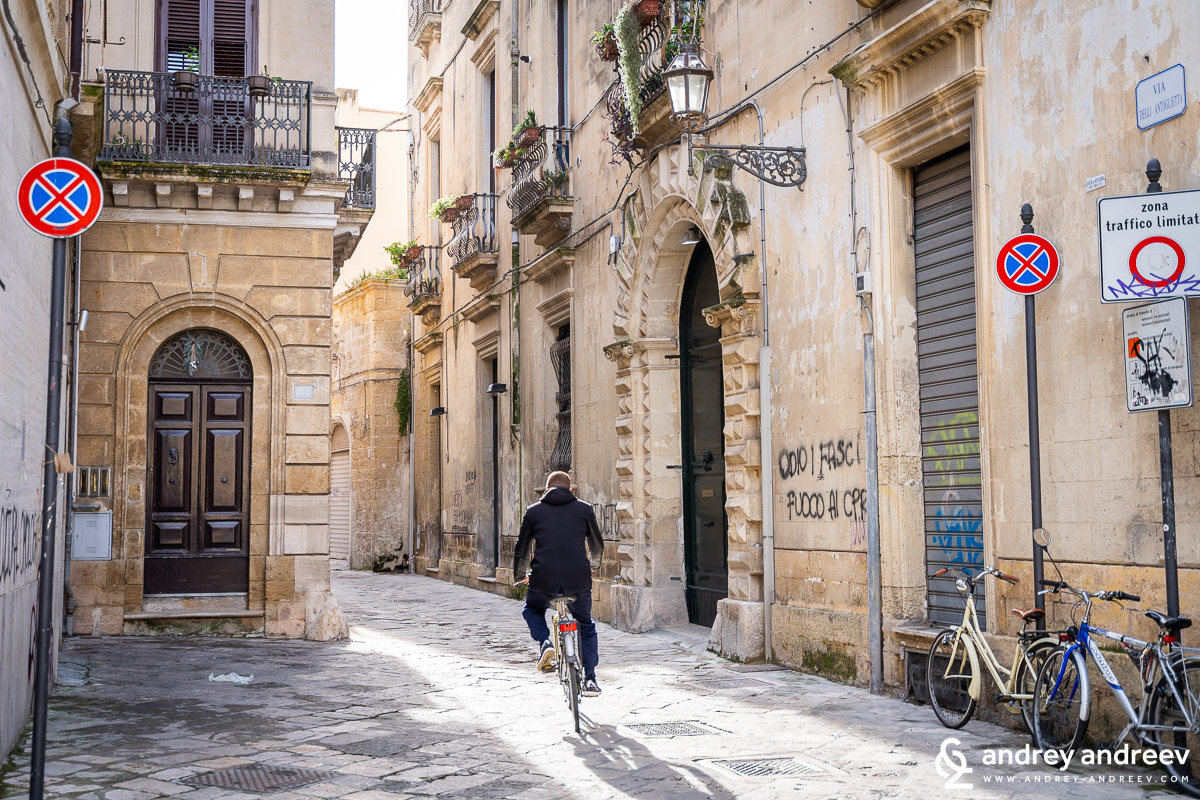 The baroque streets of Lecce, South Italy
