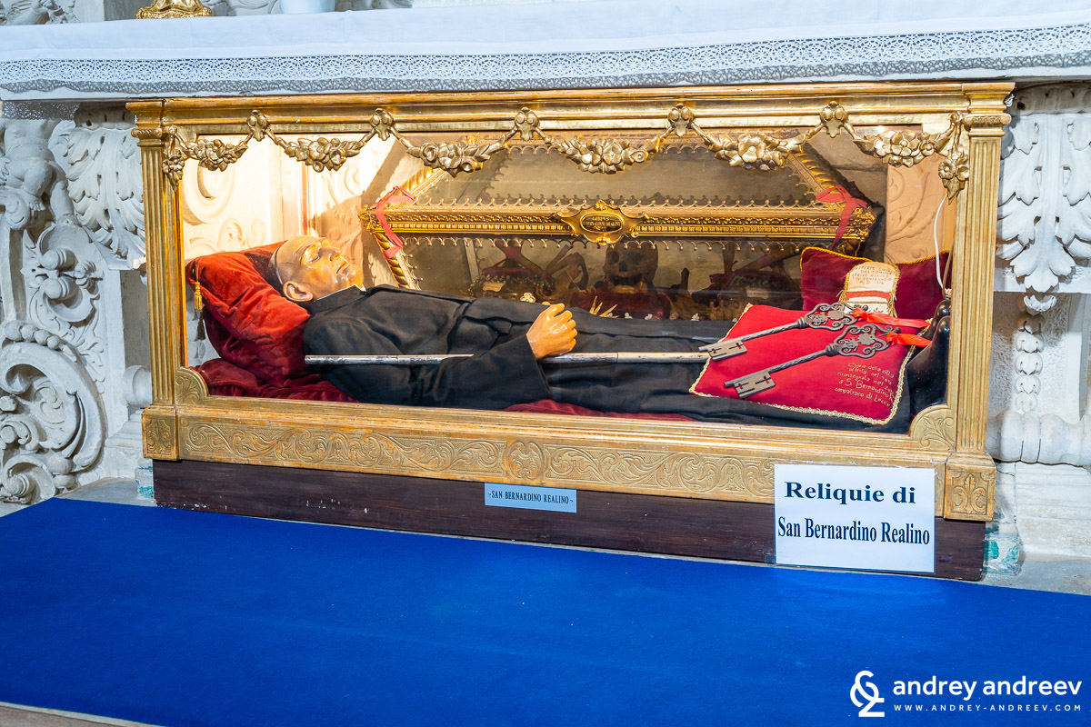 The relics of San Bernardino Realino