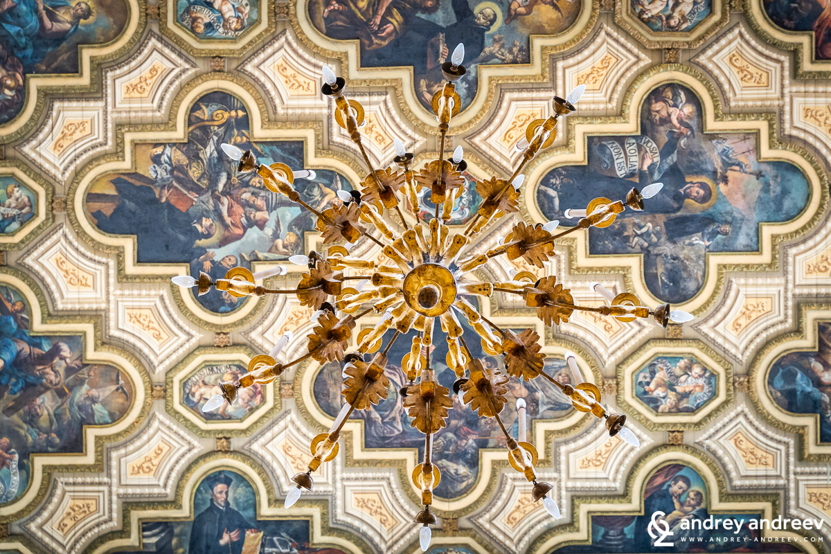 The ceiling of Chiesa del Gesu in Lecce