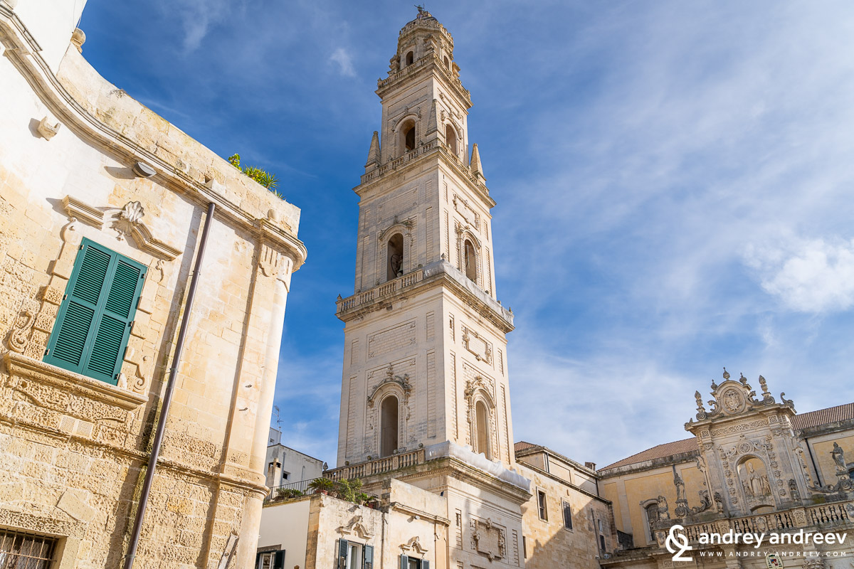 The bell wtower of the cathedral in Lecce - Campanile