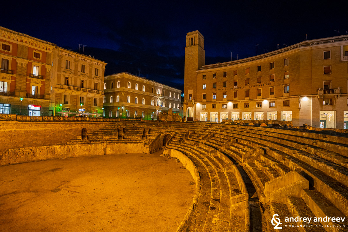 The amphitheatre in Lecce
