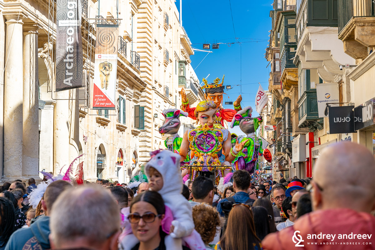 The carnival in Valletta, Maltese Carnival