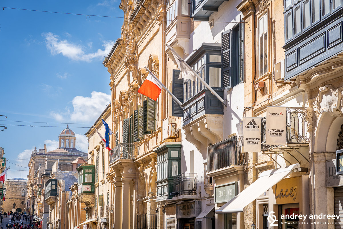 The facades of Valletta, Malta