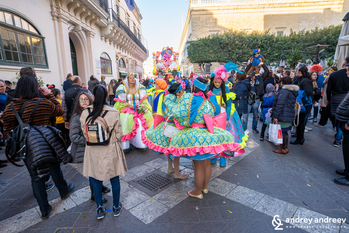 The carnival in Valletta