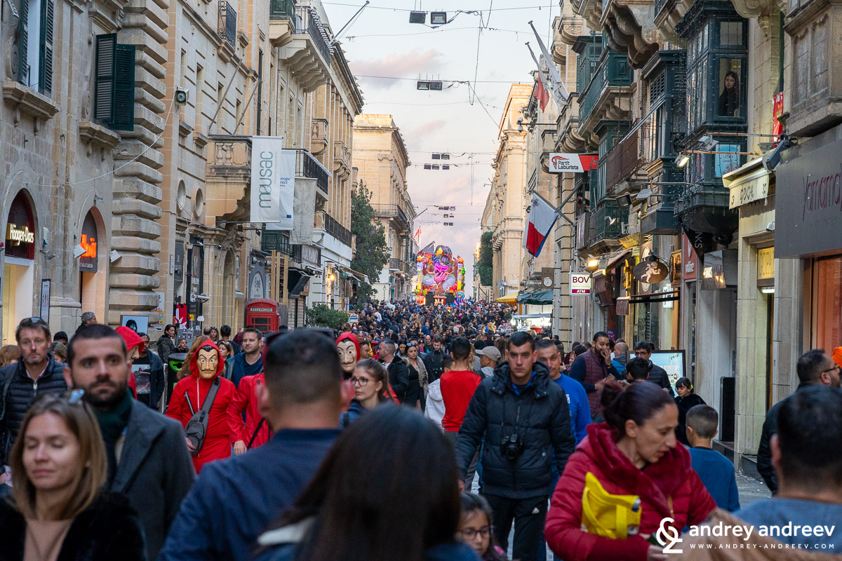 The Maltese Carnival in Valletta