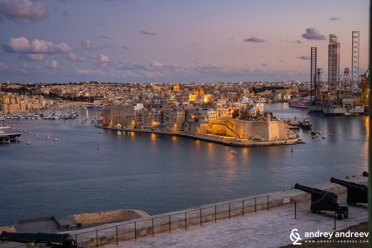 A view towards Senglea and the Grand Harbour