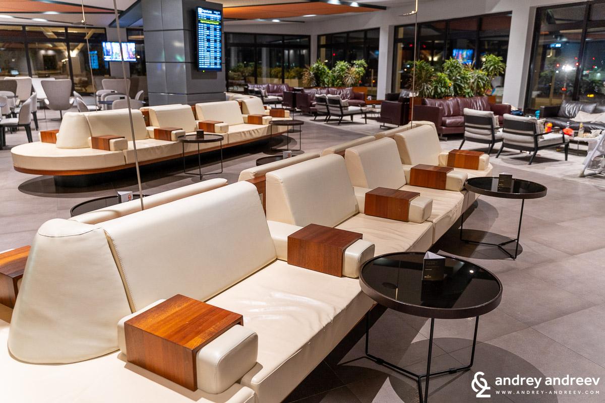 La Valette Club airport lounge in Malta