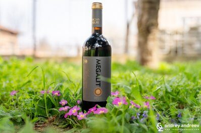 Megalit Syrah 2013 from Chateau Kolarovo wine cellar, Bulgaria