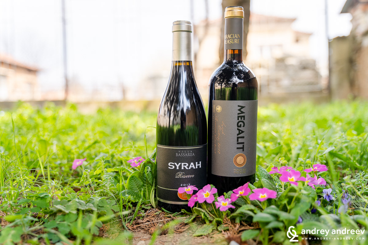 Two wonderful wines for the cozy days with family - Syrah Reserve 2017 from Villa Bassarea and Megalit Syrah 2013 from Chateau Kolarovo