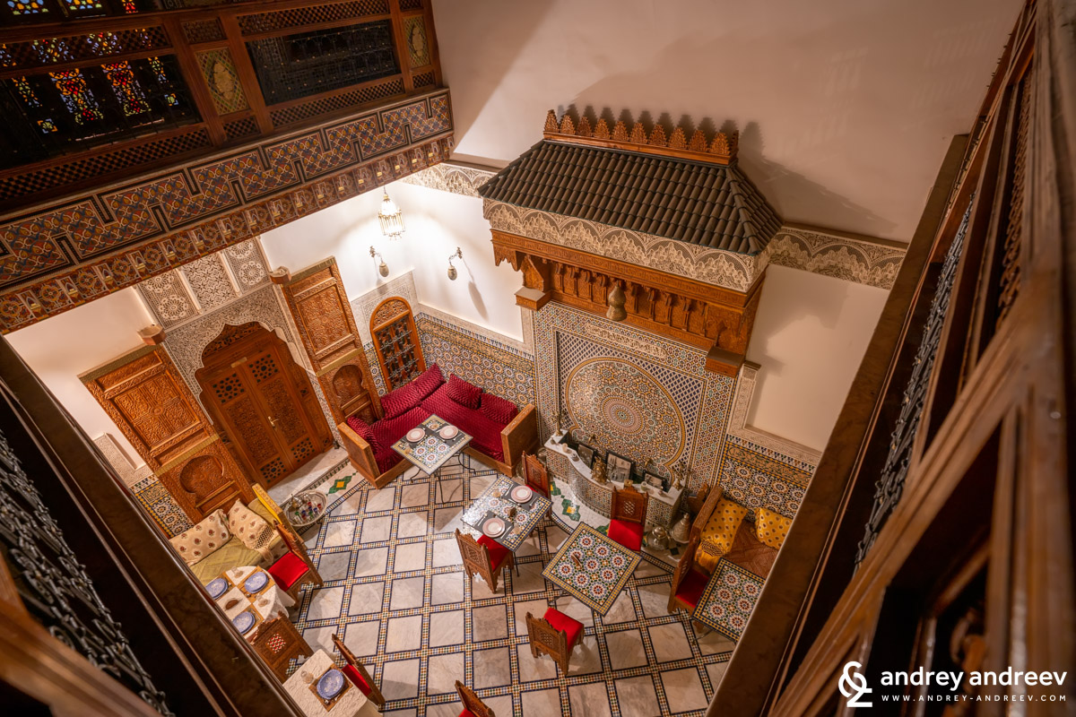 Our riad in Fes, Morocco