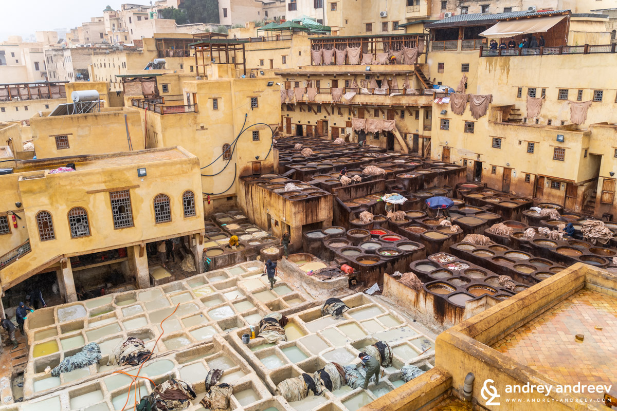 The Chouara tannery in Fes, the first tannery we visited