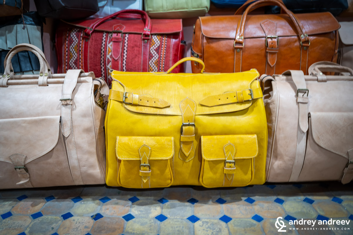 A travel bag from camel leather that I really liked