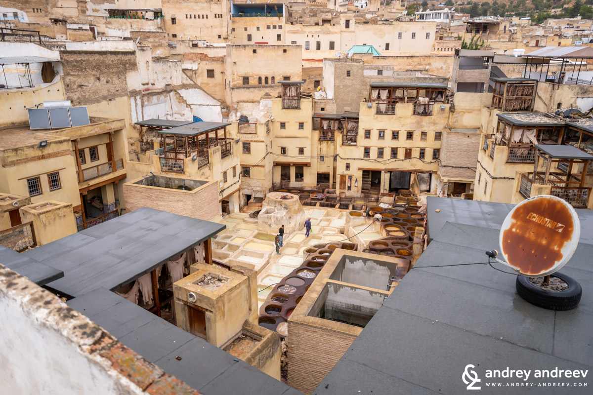 Sidi Moussa tannery in Fes, Morocco