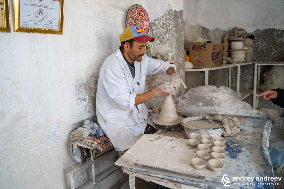 A potter in Fes, Morocco