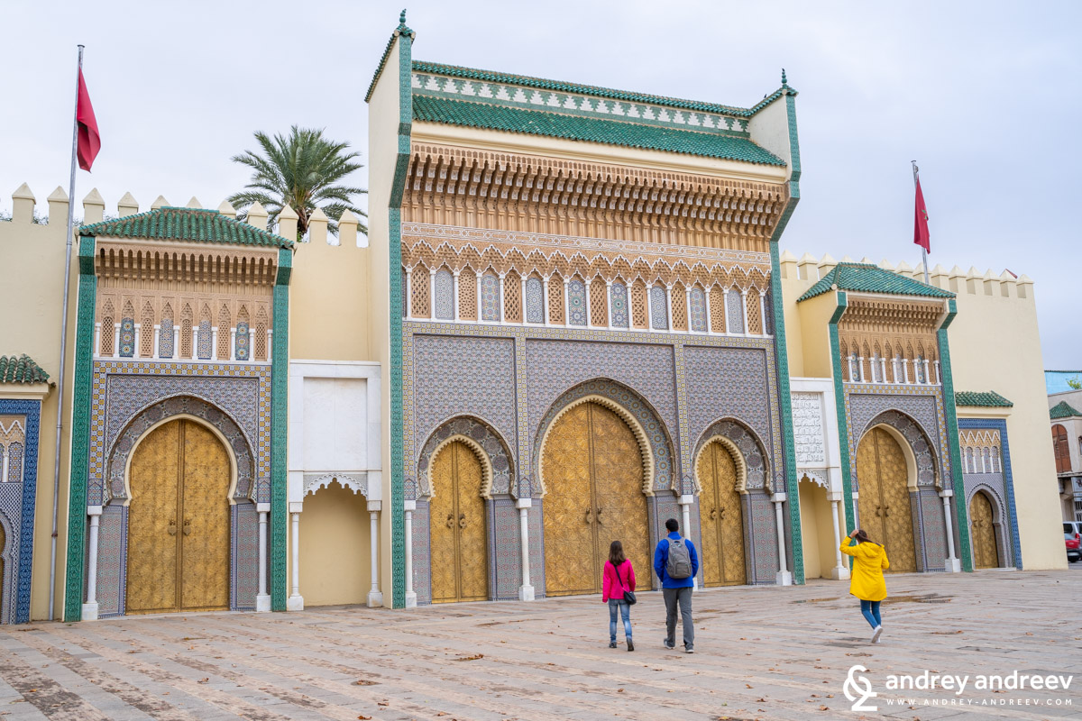 The royal palace in Fes - Dar al-Makhzen