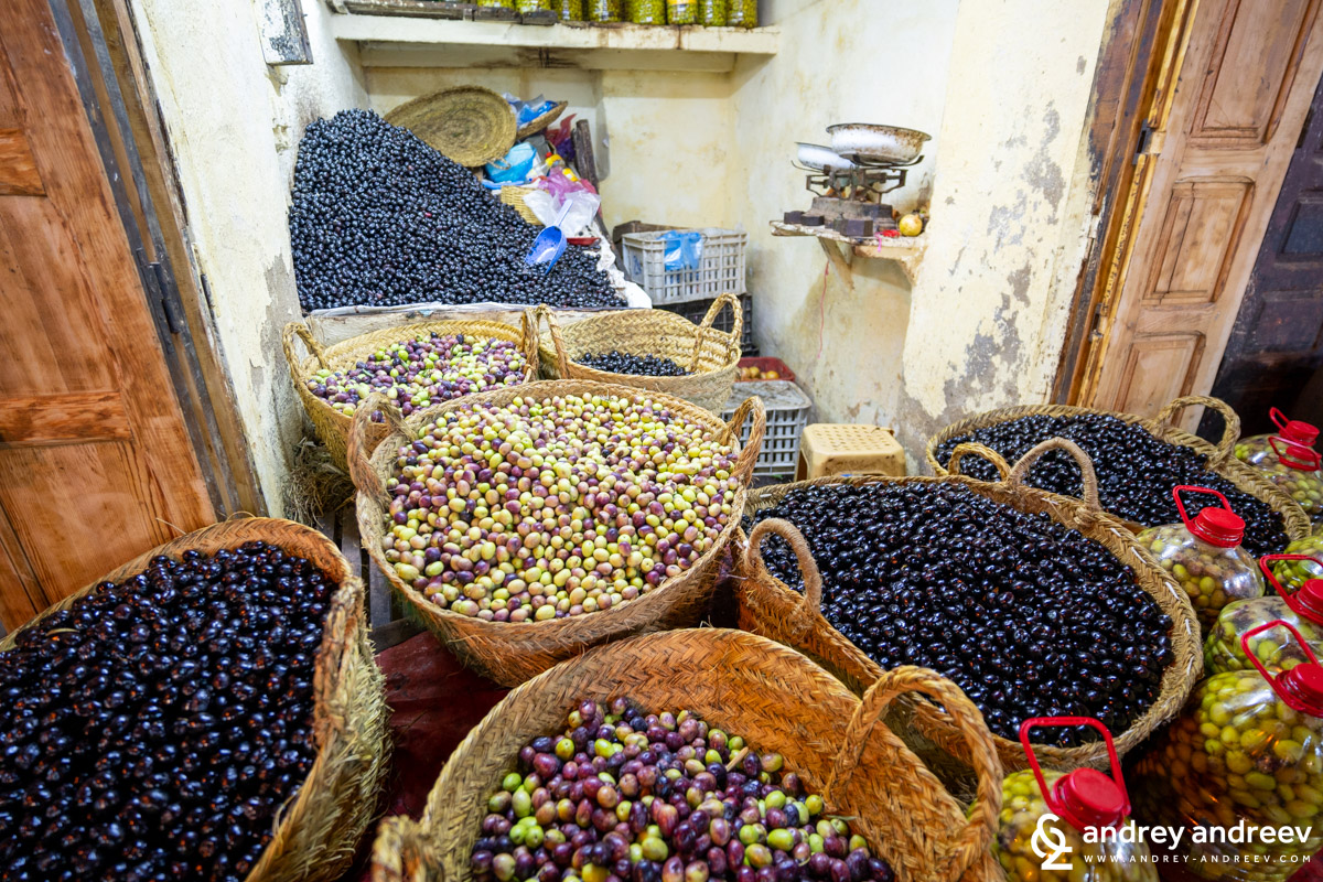 Olives on the market in Fes
