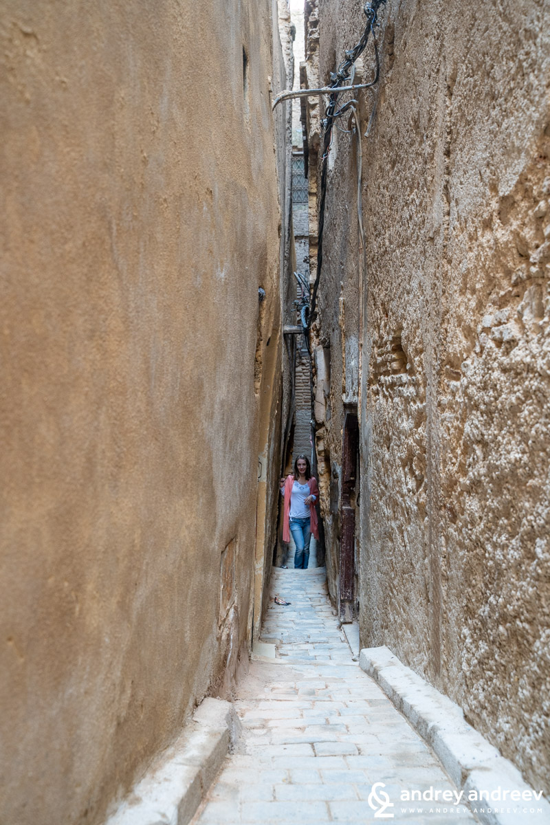 Typical street in the medina of Fes