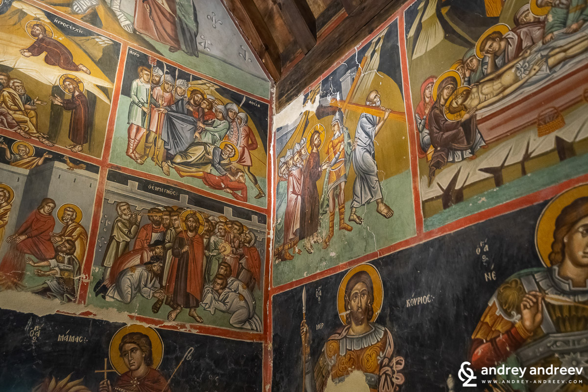 """Стенописите в църква """"Преображение Господне"""" (Μεταμόρφωση του Σωτήρος) в село Палехори"""