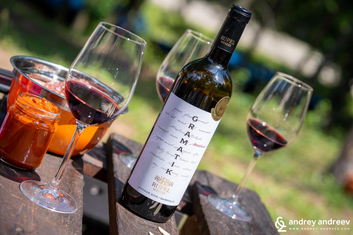 Мелник 55 , серия Граматик на винарска изба Рупел