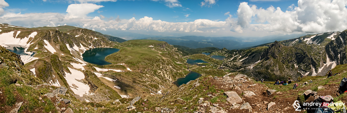 The panorama to the Seven Rila Lakes