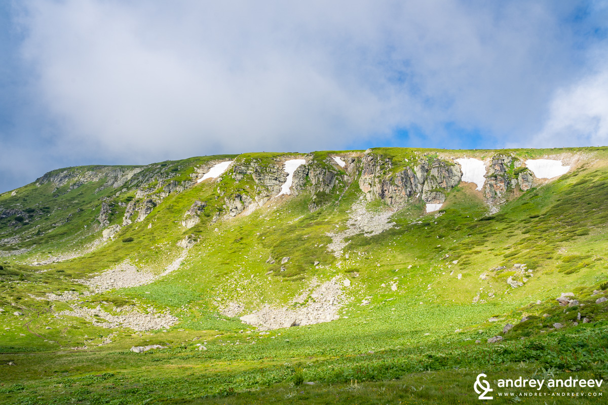 Rila mountain in July with a bit of snow